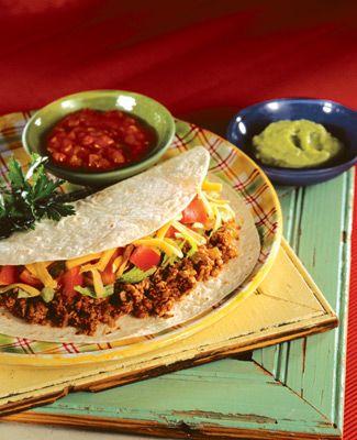 Tacos con Carne de Soya