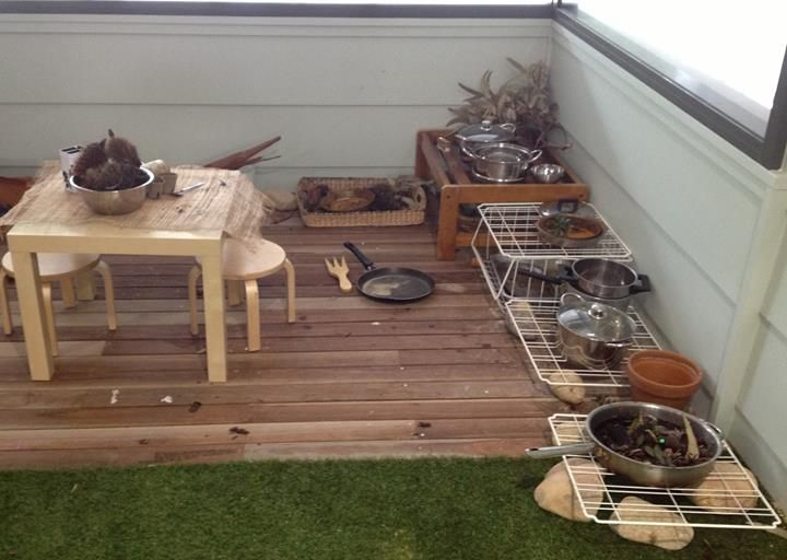 """Outdoor kitchen at Only About Children Cremorne  Neutral Bay Campuses, image shared by let the children play ("""",)"""