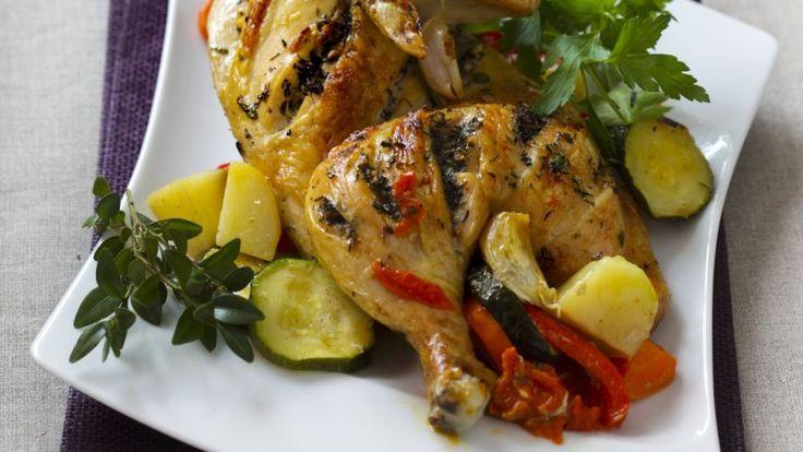 Pečené kura so zeleninou | Recepty.sk