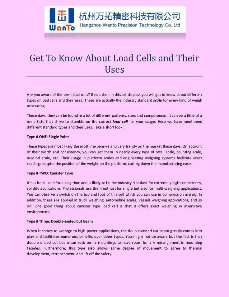 Get To Know About Load Cells and Their Uses
