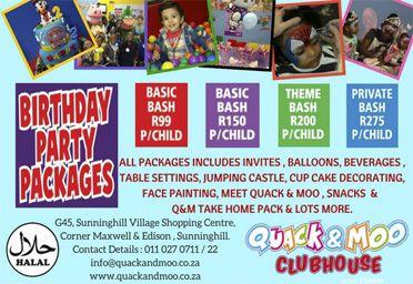 Kids Party Venues Website :