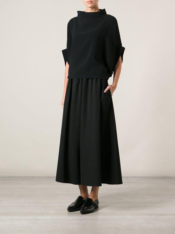 Yohji Yamamoto cropped wide leg trousers