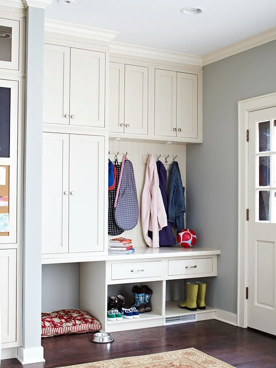 Planning a Mudroom Use these tips to organize a mudroom to accommodate how your family lives.