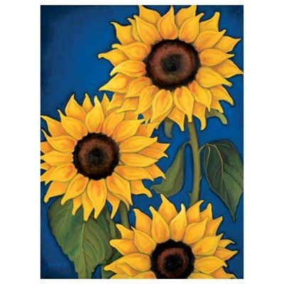 easy sunflower paintings - Google Search