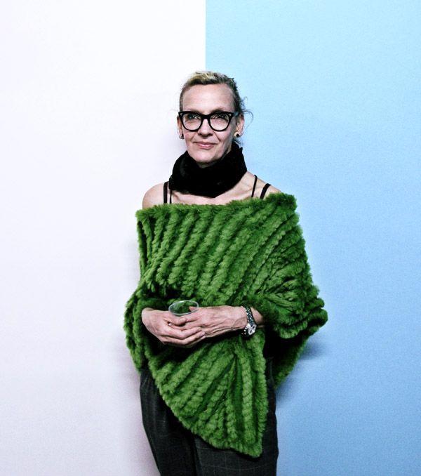 Portrait of artist Melanie E. Khava at Factory 49