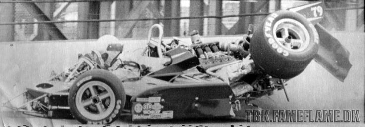 Race Car Crash: Art Pollard's Fatal Crash At Indy 500 Practice. (1974