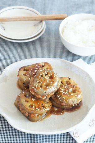 甘辛味のれんこんと鶏ひき肉のはさみ焼き by mi-inaさん | レシピ ...