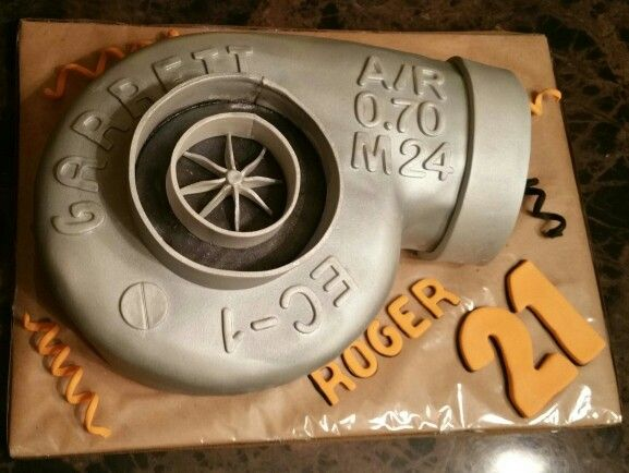 Turbo Charger Cake