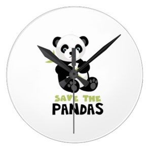 Save the Pandas clock :) We have lots of clocks and home accessories on www.pandathings.com