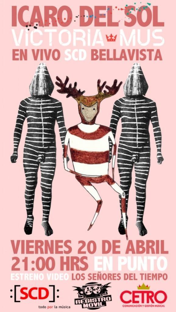 Esta noche estarán @IcaroDelSol y @VictoriaMus en la sala SCD Bellavista y tenemos entradas para regalar: http://t.co/racr5qZc