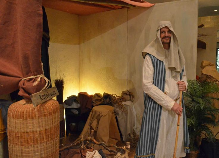 The innkeeper said there was no room in the inn -- not even in the stable because a man and a pregnant woman had taken it last night.