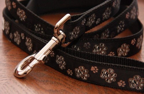 Black and Silver Zebra Paw Prints Dog Leash. $18.00. Find Bonzai Gifts on Facebook for more!