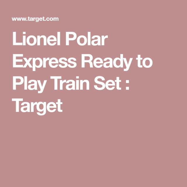 Lionel Polar Express Ready to Play Train Set : Target