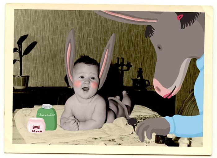 #illustration by Giulia Sagramola #old #photo #digital