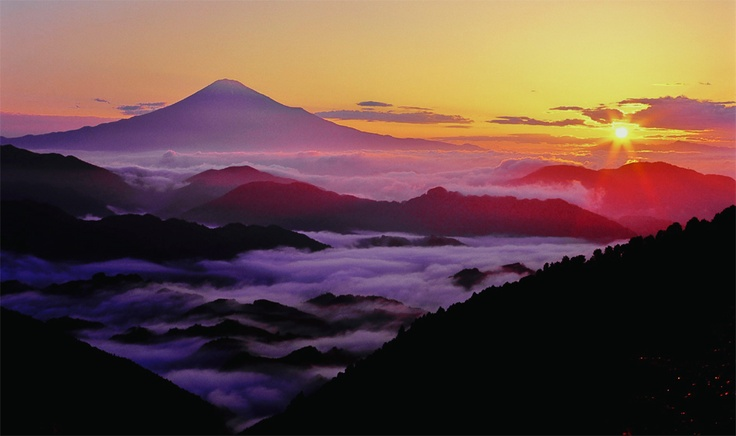 sunrise in sizuoka japan: Sunsets Sunrises, 自然 Natural Japan, Dashboards