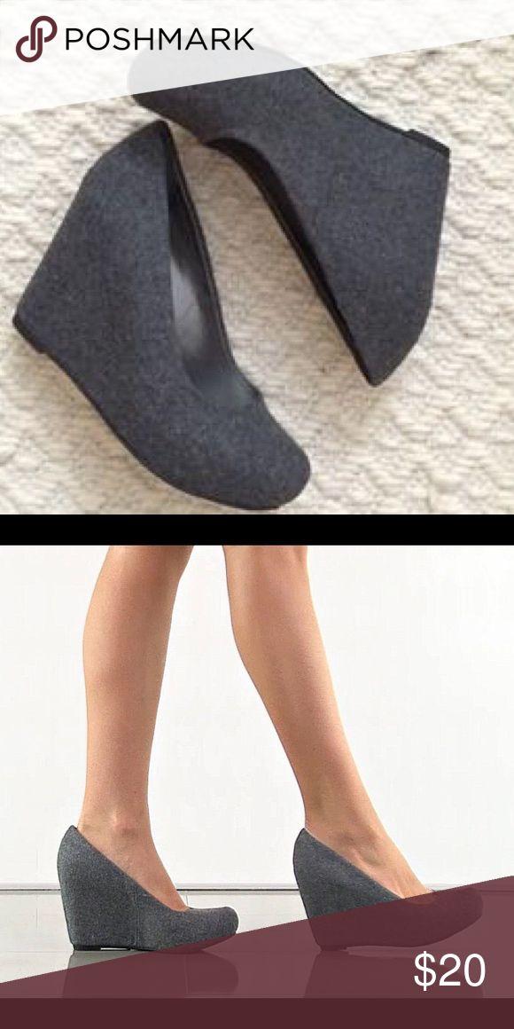 SALEFergalicious Gray Wedges Excellent condition Fergalicious Shoes Wedges