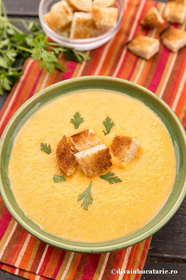 Supa crema de legume pregatita la crock-pot pastreaza vitaminele legumelor fiind pregatite la temperatura mica, aroma si gustul lor dulceag ramane intact