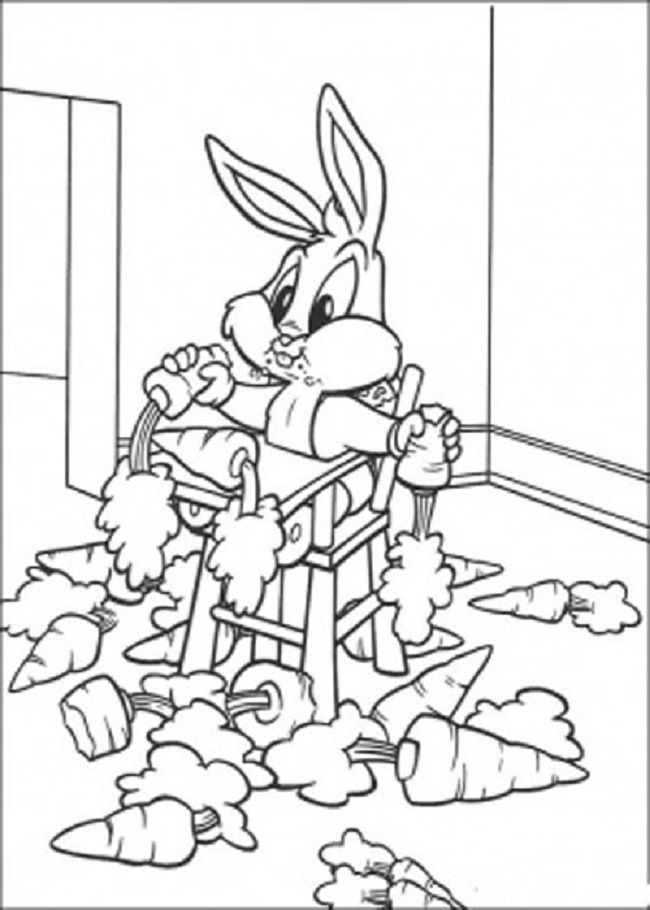 Bugs Bunny Valentine Coloring Pages