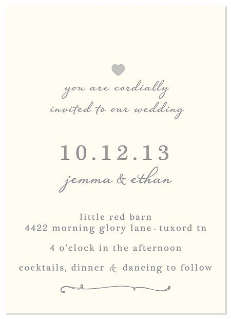 Wedding Invitations Super Simple And Classy Wedding Invitations