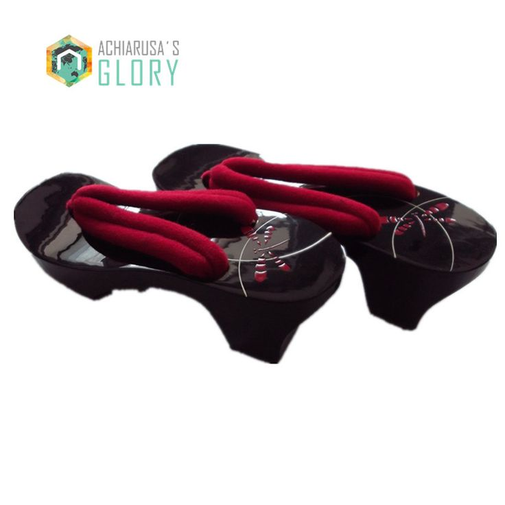 2015 été japonais Geta femmes chaussures à talons hauts sabots pantoufles femmes Geta SandalsFlat talon Cosplay pantoufles / Flip Flops chaussures dans Sandales pour femmes de Chaussures sur AliExpress.com | Alibaba Group