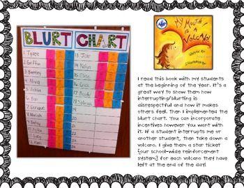Blurt Chart Freebie! - Leanne Prince - TeachersPayTeachers.com