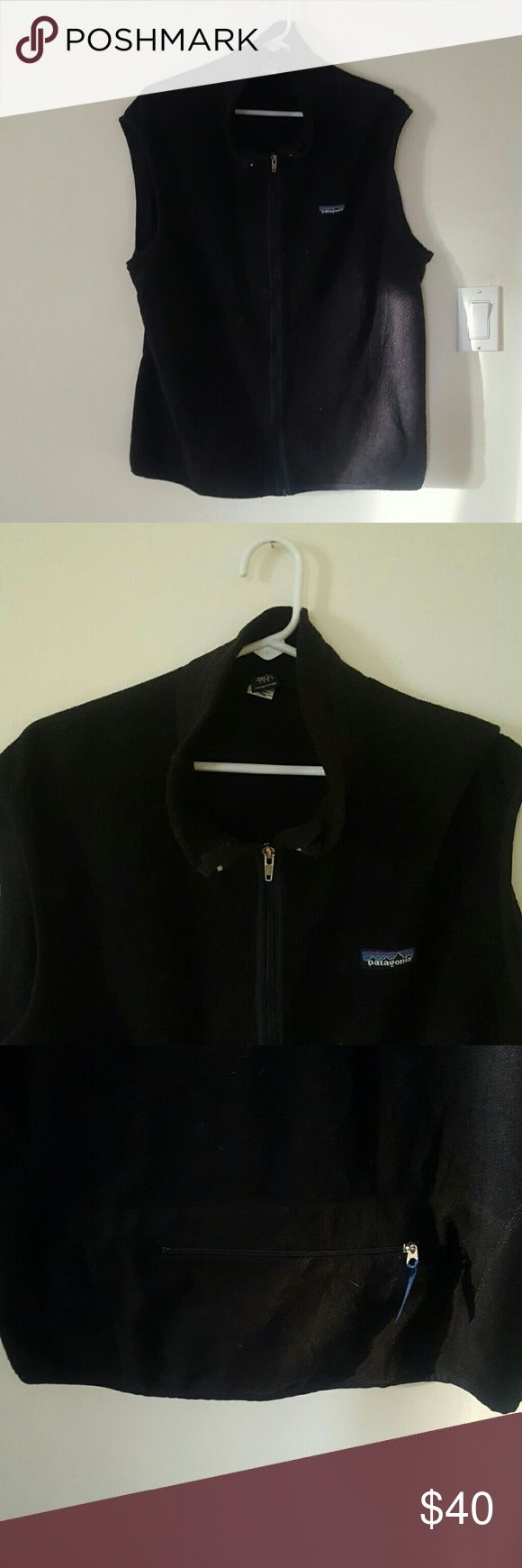 SALE Patagonia vest Black vest from patagonia. Zip up front. Lined inside. Zip pocket on back Patagonia Jackets & Coats Vests