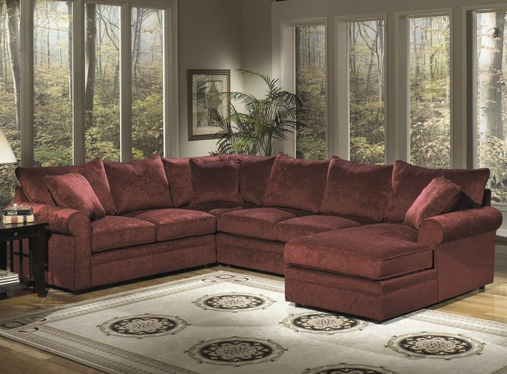 7315 Upholstered Rolled Arm Sectional By Craftmaster   Fashion Furniture    Sofa Sectional Fresno, Madera