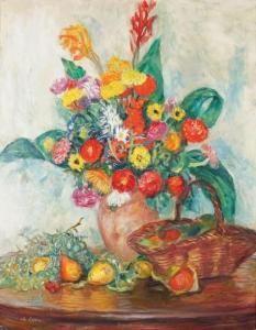 Charles Camoin - Cannas Et Fleurs Dans Le Pot De Grès