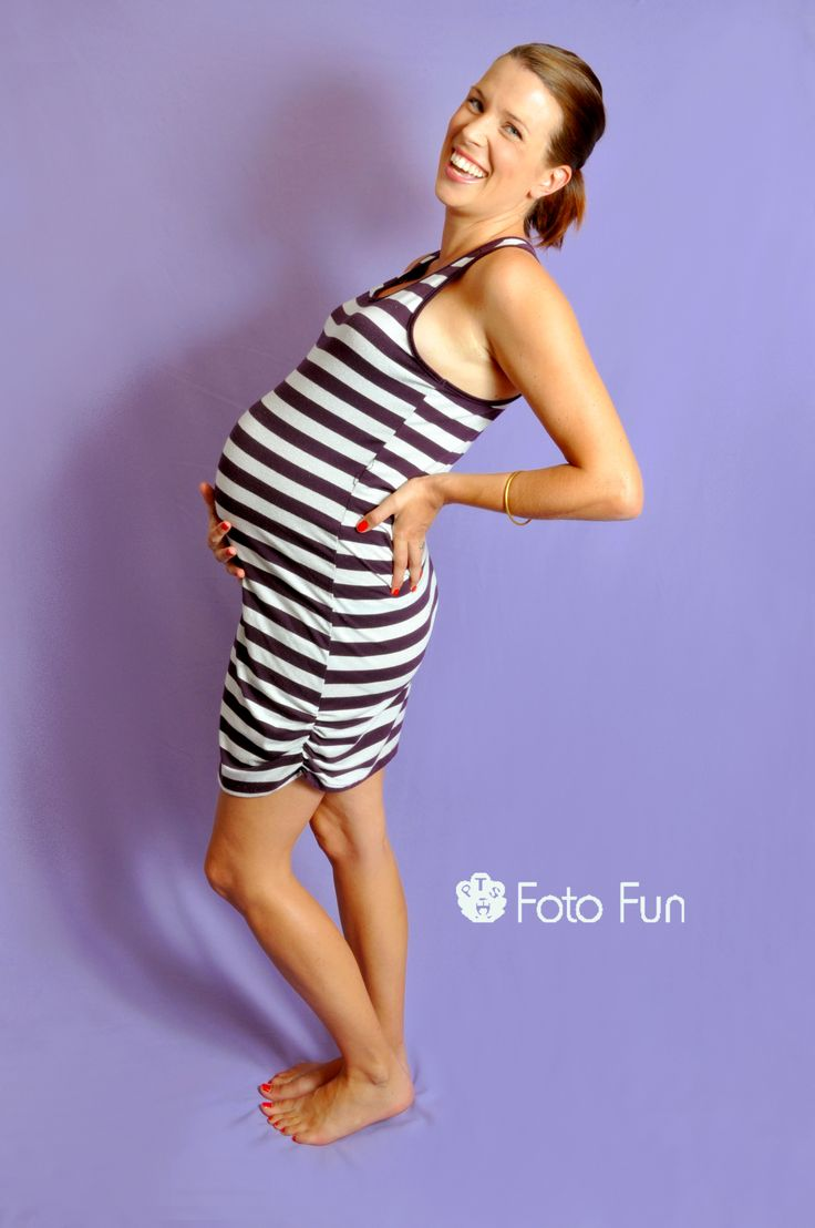 Fun pregnant mama over purple