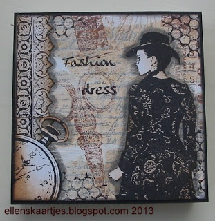 Memo block 9 x 9 cm. Art journey stamps and gesso paperblending.