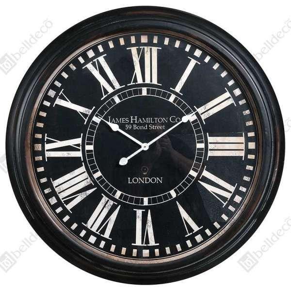 Zegar ścienny RETRO C140862 Belldeco czarny