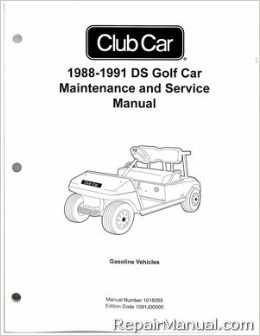 Your investment in a Club Car Repair Manual will pay for itself quickly in just one repair or in extending the life of your batteries, cables and body through preventive and regular maintenance. #clubcargolfcart