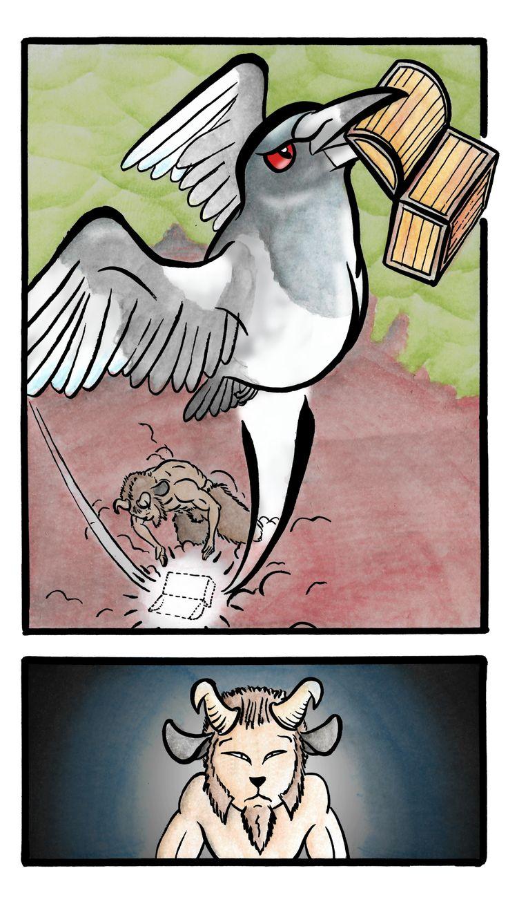 Giulio bottega, fumetto Il Satiro pagina 3