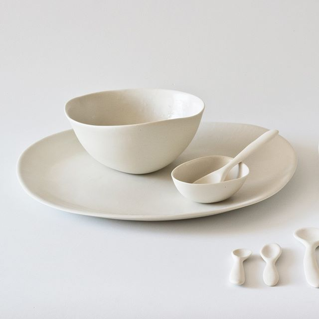 Simple Minimal Delicate Wabi Sabi White Porcelain Tableware By Yasha Butler Bowls Plates Spoons White Simple Minima Tableware Set Tableware Ceramic Set