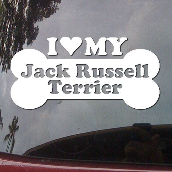 I Heart My Jack Russell Terrier  Love Dog Bone by AlohaStickers, $3.99