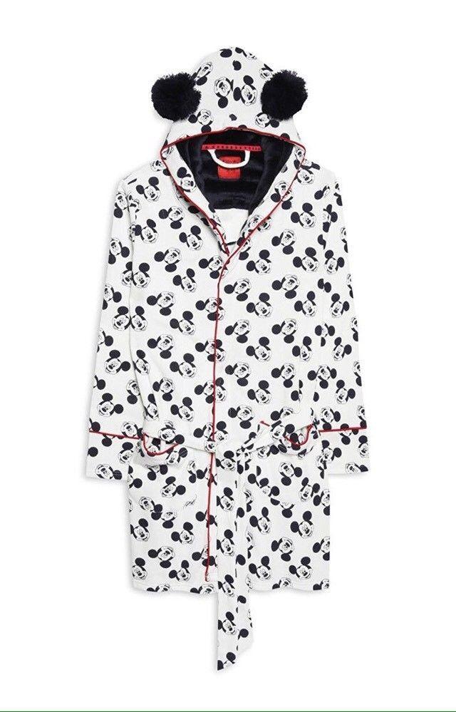Primark Ladies Disney Mickey Mouse Dressing Gown Girls Bathrobe