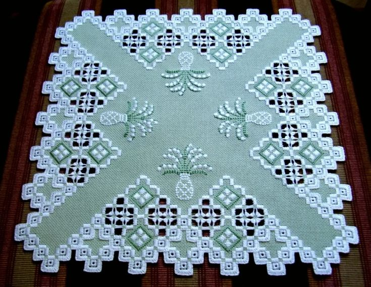 Hardanger Doily With Lilies Of The Valley