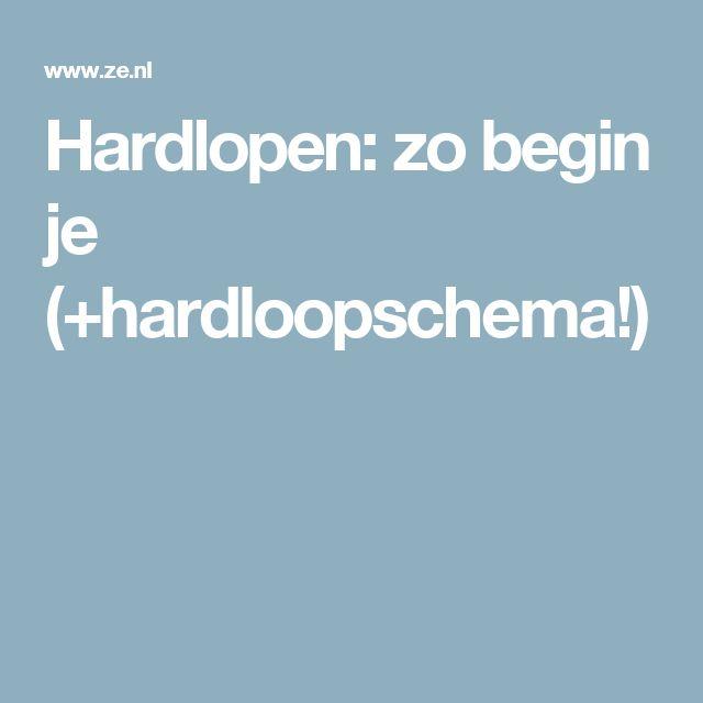 Hardlopen: zo begin je (+hardloopschema!)