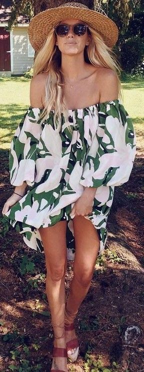 #summer #beach #outfits | Tropical Dress