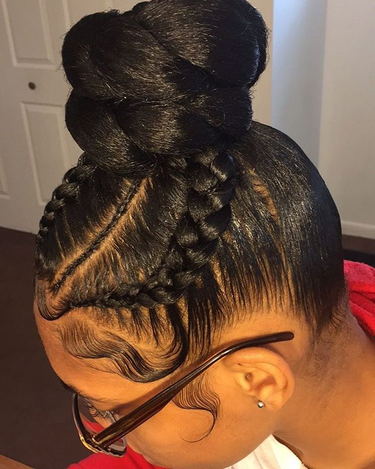 "Ms Dominique Hair Queen (@thehairqueen) on Instagram: ""New Instagram @thehairqueen Detail Feed in Braid bun @thehairqueen @thehairqueen @thehairqueen"""