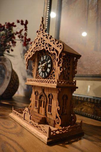Scroll Bench - Clock - Fretwork