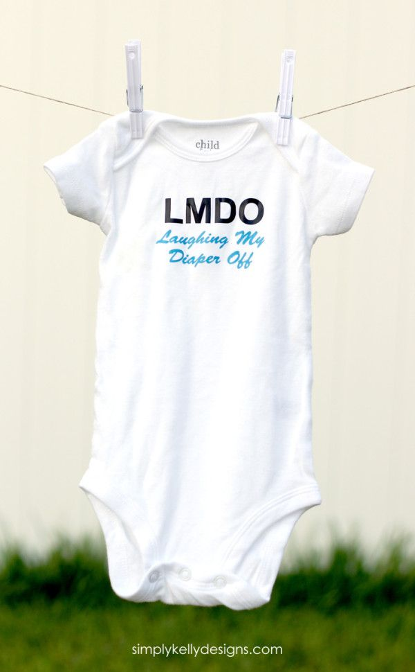 11 best baby onesies images on pinterest silhouette cameo baby want a cute onesie for your baby or as a gift create a custom lmdo laughing my diaper off onesie using the silhouette and heat transfer vinyl negle Choice Image