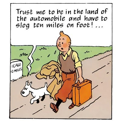 Tintin - from the later redrawn version of Tintin in America
