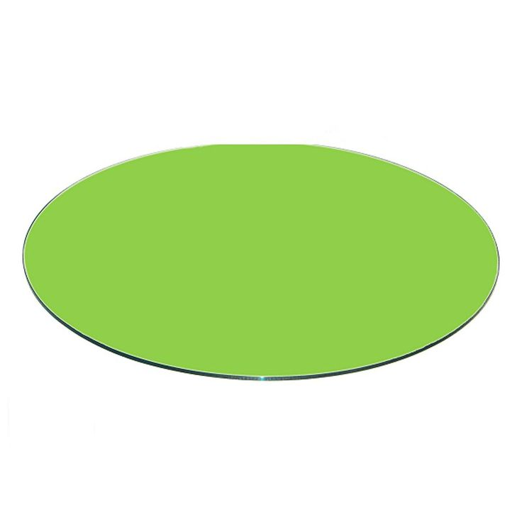 Fab Glass and Mirror Green Back Painted Round 0.37 in. Thick Flat Edge Tempered Glass Table Top - CG-40RT10THFPTE