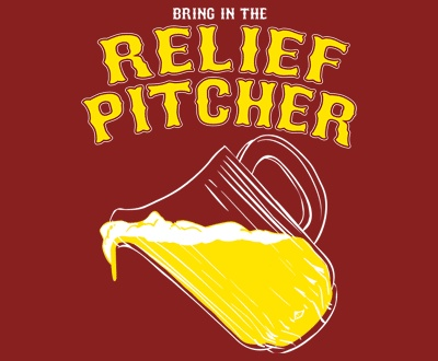 "What do you think Brewers fans?  Is it time to bring in our own relief pitcher?!?!  How about some ""Damn Good Beer""?!??! #Minhascraftbrew"