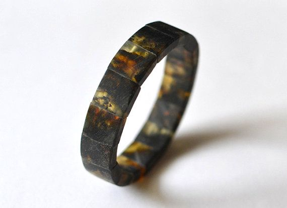 Amber Men Bracelet Mens Jewelry Amber For Men Dude by KARUBA