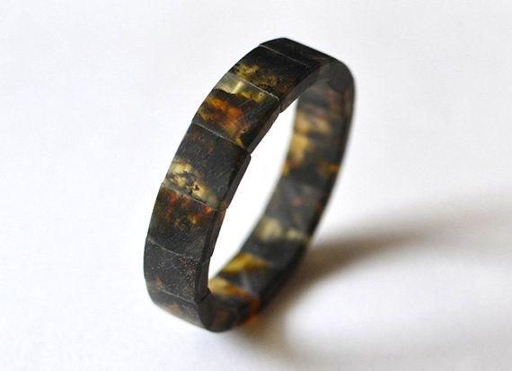 Amber Men Bracelet Mens Jewelry Amber For Men Dude by KARUBA