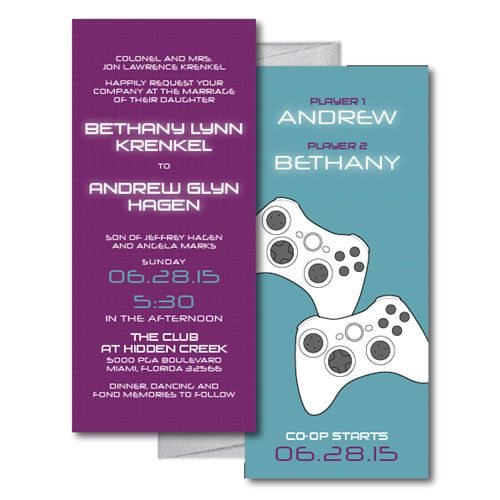 74 best images about gamer weddings on pinterest super With xbox wedding invitations