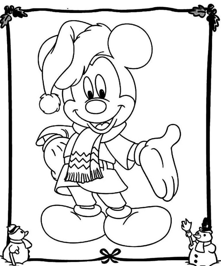 Mickey Mouse Christmas Coloring Pages Mickey mouse