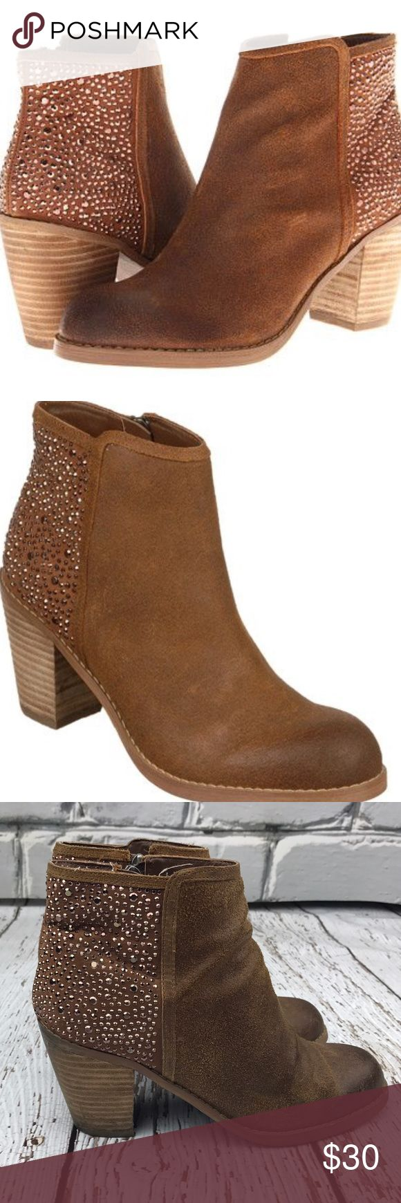 "💕SALE💕Carlos Santana Driskill Suede Stud Boot Fantastic 💕Carlos Santana Driskill Suede Studdded High Ankle Booties 3"" Heel Carlos Santana Shoes Ankle Boots & Booties"